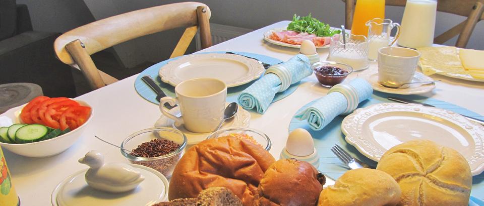 Een heerlijk vers ontbijt